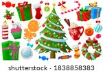 cartoon colorful christmas... | Shutterstock .eps vector #1838858383