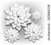 paper floral background.... | Shutterstock .eps vector #183886238