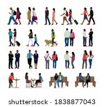 black people  various situation ...   Shutterstock .eps vector #1838877043