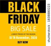 black friday big sale banner | Shutterstock .eps vector #1838880223