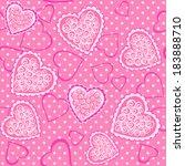 pink hearts. background. vector ... | Shutterstock .eps vector #183888710