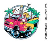 surfing t shirt vector designs. ... | Shutterstock .eps vector #1838904496