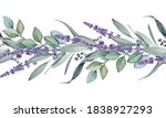Seamless Border From Lavender...