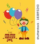 circus design over yellow... | Shutterstock .eps vector #183893243