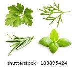 parsley herb  basil leaves ...   Shutterstock . vector #183895424