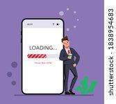 loading application working... | Shutterstock .eps vector #1838954683