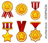 set of medals with star...
