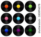 set of different vintage vinyl. | Shutterstock . vector #183896078