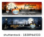 holiday halloween banners with... | Shutterstock .eps vector #1838966533