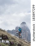 Moutainbike Uphill With...