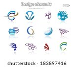 color design set  isolated ... | Shutterstock .eps vector #183897416