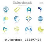 color design set  isolated ... | Shutterstock .eps vector #183897419