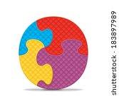 letter o written with alphabet... | Shutterstock .eps vector #183897989
