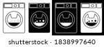 washing machine in flat and...   Shutterstock .eps vector #1838997640