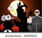 halloween ghost vector... | Shutterstock .eps vector #18390022