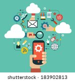 cloud computing concept | Shutterstock .eps vector #183902813