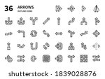 arrows icons for website ... | Shutterstock .eps vector #1839028876