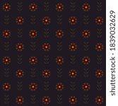 vintage indian pattern elegant... | Shutterstock .eps vector #1839032629