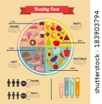 healthy food design over beige... | Shutterstock .eps vector #183903794