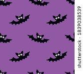 flying bats seamless pattern.... | Shutterstock .eps vector #1839038539