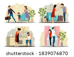 angry people in family conflict ... | Shutterstock .eps vector #1839076870
