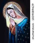 Catholic Icon Of The Virgin...