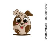 doggie in the shape of an... | Shutterstock .eps vector #1839093049