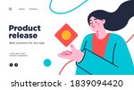 landing page template of... | Shutterstock .eps vector #1839094420