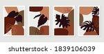 botanical wall art vector set....   Shutterstock .eps vector #1839106039