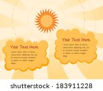 sunny day cartoon background ... | Shutterstock .eps vector #183911228