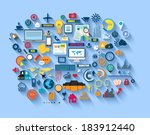 flat style diagram  infographic ... | Shutterstock . vector #183912440