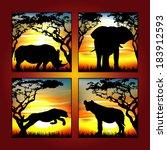 africa animal   Shutterstock .eps vector #183912593