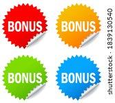bonus vector stickers isolated...   Shutterstock .eps vector #1839130540