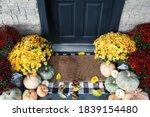 Welcome Door Mat Of Front Porch ...