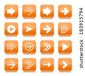 16 arrow icon set 01. white... | Shutterstock .eps vector #183915794