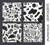 vector set of abstract black... | Shutterstock .eps vector #1839163870