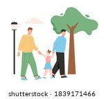 happy male lgbt family with kid....   Shutterstock .eps vector #1839171466