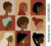 black  african  african... | Shutterstock .eps vector #1839198019