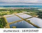 Aerial View Retention Basins ...
