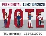 men and women activists are... | Shutterstock .eps vector #1839210730