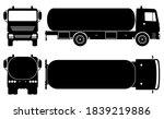 tanker truck silhouette on... | Shutterstock .eps vector #1839219886