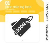 soon sale tag premiun icon with ...