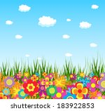 spring flower colorful... | Shutterstock .eps vector #183922853