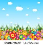spring flower colorful...   Shutterstock .eps vector #183922853