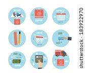 web design objects  business ...   Shutterstock .eps vector #183922970
