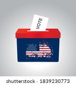 ballot box for american... | Shutterstock .eps vector #1839230773