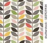 seamless leaf pattern background   Shutterstock .eps vector #183925934