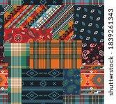 bandana paisley native motifs... | Shutterstock .eps vector #1839261343
