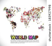 colorful   dotted world map | Shutterstock .eps vector #183927998