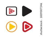 play logo vector template design | Shutterstock .eps vector #1839307246